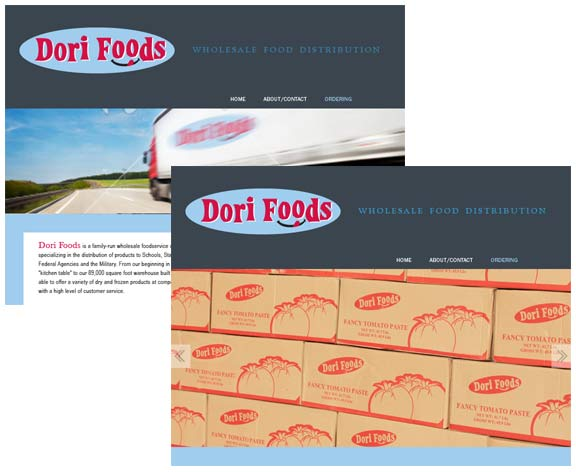 Food Supplier Logo + Website