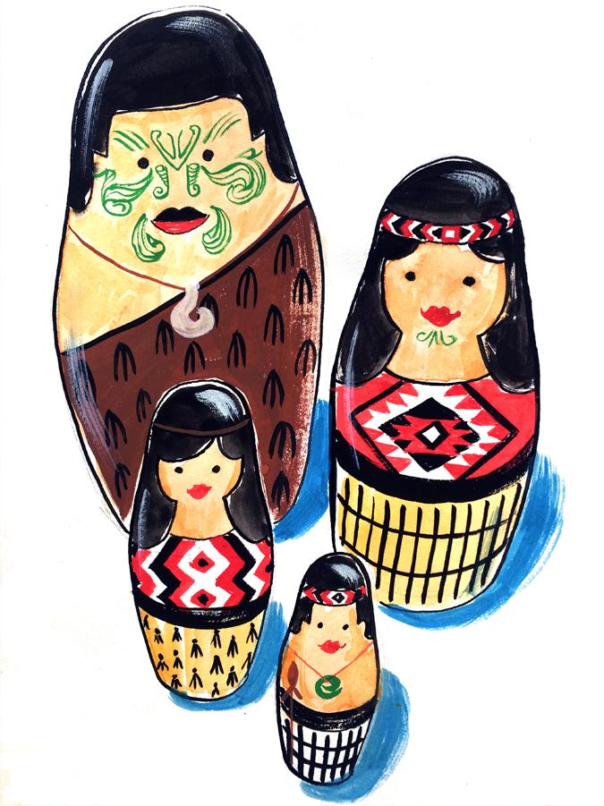 Maori nesting dolls