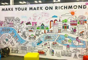 coloring book, mural, cityscape