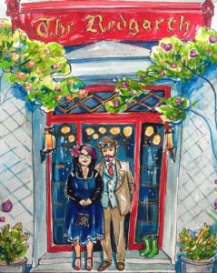 Steampunk Couple at Red Garth Inn