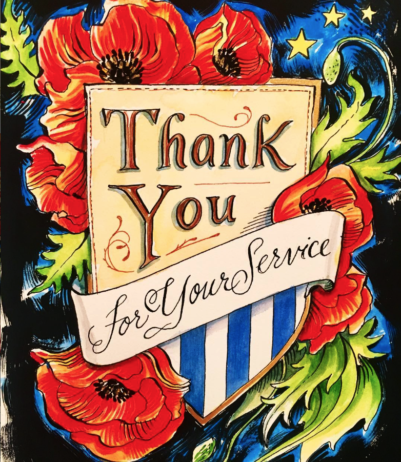 Thank you for your service, Memorial Day poppies